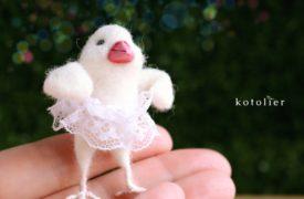 プチバレリーナ 白文鳥のシロビィちゃん